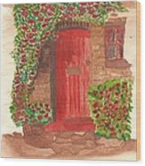 The Orange Door Wood Print