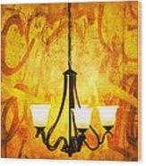 The Orange Lamp Wood Print