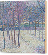 The Orchard Under The Snow  Wood Print by Hippolyte Petitjean