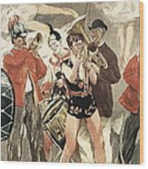The Orchestra Of The Circus. 1888-1889 Wood Print