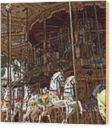 The Original French Carousel Wood Print