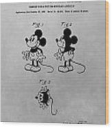 The Original Mickey Mouse Patent Design Wood Print