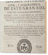 'the Orinoco Illustrated' (1741) Wood Print
