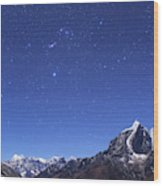 The Orion Constellation Wood Print