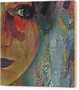 The Other Left Abstract Portrait Wood Print