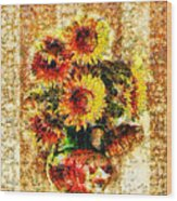 The Other Sunflowers Wood Print