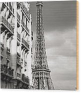 The Other View Of The Eiffel Tower Wood Print
