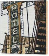 The Otis Hotel Wood Print