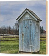 The Outhouse - 4 Wood Print