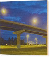 The Overpass Wood Print