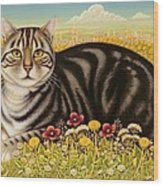 The Oxford Cat Wood Print