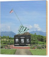 The Pacific War Memorial On Marine Wood Print