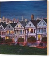 The Painted Ladies Of San Francsico Wood Print
