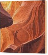The Painted Rocks Of Lower Antelope Canyon Wood Print