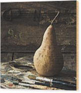 The Painter's Pear Wood Print