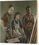 The Painting Wood Print