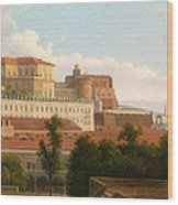 The Palazzo Reale And The Harbor. Naples Wood Print