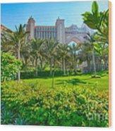 The Palm - Atlantis - Dubai Wood Print by George Paris
