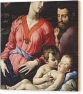 The Panciatichi Holy Family Wood Print