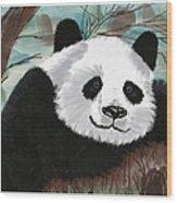 The Panda Wood Print