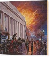 The Pantechnicon Fire. 1874. Wood Print