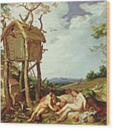 The Parable Of The Wheat And The Tares Wood Print