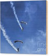 The Parachutists V5 Wood Print