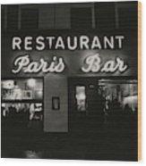 The Paris Bar Wood Print