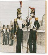 The Parisian Municipale Guard, Formed 29th July 1830 Coloured Engraving Wood Print