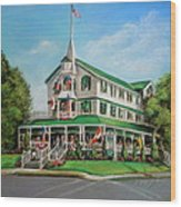 The Parker House Wood Print