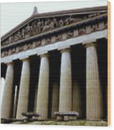 The Parthenon Nashville Tn Wood Print