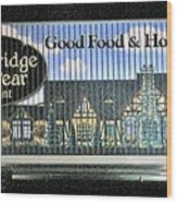 The Partridge And Pear Restaurant Wood Print