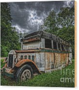 The Party Bus Wood Print