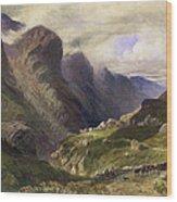 The Pass Of Glencoe, 1852 Wood Print by William Bennett