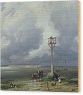 The Passage Du Gois At Noirmoutier, 1859 Oil On Canvas Wood Print