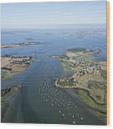 The Passage In The Gulf Of Morbihan Wood Print