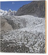 The Passu Glacier And Mountains Wood Print