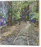 The Path Of Graffiti Wood Print