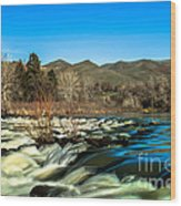 The Payette River Wood Print