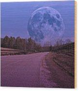 The Peace Moon  Wood Print