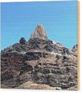 The Peak Above Wood Print