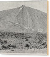 The Peak Of Tenerife, From The Canadas On The South Wood Print