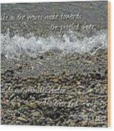 The Pebbled Shore 2 Wood Print