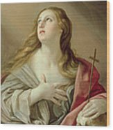 The Penitent Magdalene Wood Print