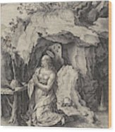 The Penitent Mary Magdalene, Antonie Wierix II Wood Print
