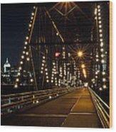 The People's Bridge Wood Print
