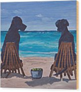 The Perfect Beach Day Wood Print