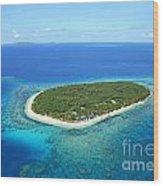 The Perfect Island Wood Print by Lars Ruecker