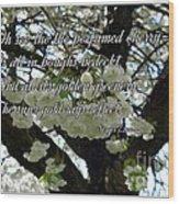 The Perfumed Cherry Tree 2 Wood Print