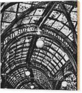 The Pergola Ceiling Wood Print